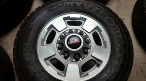 """Wheels and tires 17"""" 8 lug gmc for Sale in Riverside, CA"""
