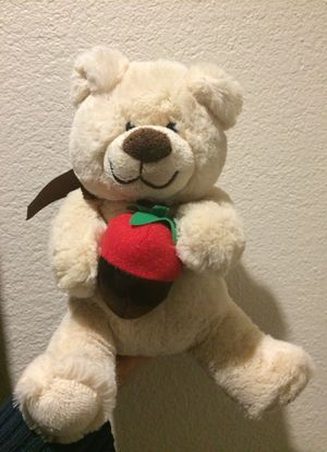 Teddy Bear Stuffed Animal with Strawberry for Sale in Pasadena, CA
