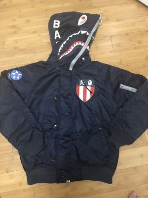 Bape x neighborhood n-2b jacket size L for Sale in Sunnyvale, CA