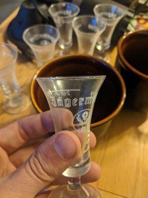 Collectible Two Centiliter Jägermeister Shot Glasses (8) for Sale in Mesa, AZ