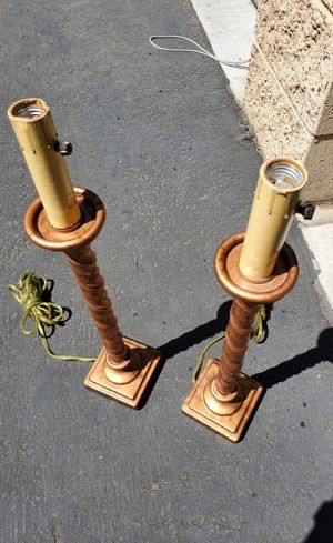 Set of 2 Antique vintage candlestick table lamps for Sale in Torrance, CA