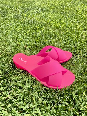 Hot Pink Summer Sandals for Sale in Beverly Hills, CA
