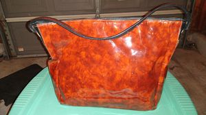 Donald J. Pliner With Animal Trim Carmel and Black Patent Leather Hobo Bag for Sale in Dublin, OH