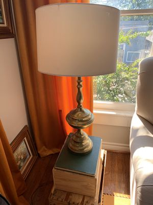 Vintage Pair-like brass lamps & White Shades for Sale in Dallas, TX