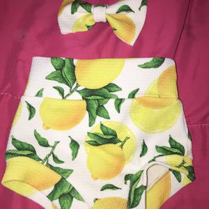 Lemon Bummie And Bow Set 3/6 Months for Sale in Whiteland, IN