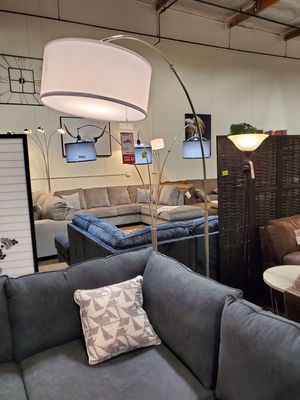 Floor Lamp with White Shade 83in for Sale in Fountain Valley, CA