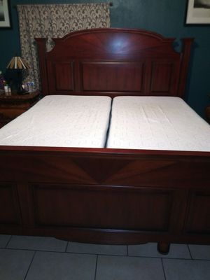 King size recliner bed top of the line mattress with gel and graphito Bluetooth remote Washable cover sheets trade for car truck quad toy trailer obo for Sale in Rialto, CA