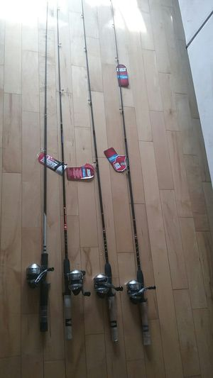 Zebco 33 Spincast Fishing Rod and Reel setups, new for Sale in Los Angeles, CA