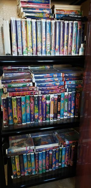 OVER 400 BLACK DIAMOND DISNEY VHS TAPES ALL FOR $400 OR $5 EACH IF YOU BUY SINGLES have also multiple boxes full for Sale in Phoenix, AZ