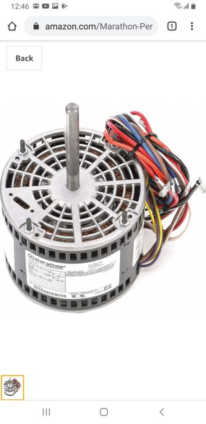 Marathon Motors 1/2 HP Direct Drive Blower Motor for Sale in Chicago, IL