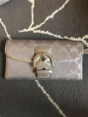 Silver Coach Wallet for Sale in Atlanta, GA
