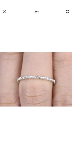 Ring Half Eternity Love Gift 14K White Gold Over Diamond Wedding Band Ring 0.23Ct for Sale in San Diego, CA