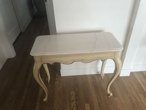 Solid white marble top entry/console table for Sale in Phoenix, AZ