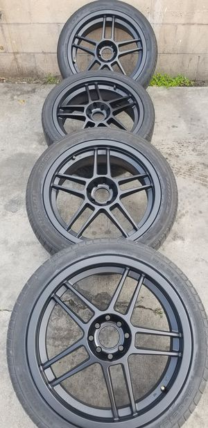 ENKEI RACING RIMS 4 lug universal 4x100 and 4x114.3 for Sale in Whittier, CA