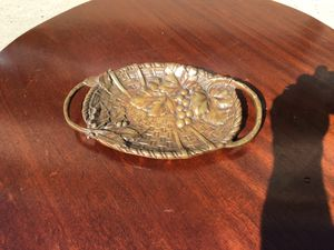 Bronze grape motif tray for Sale in Whittier, CA