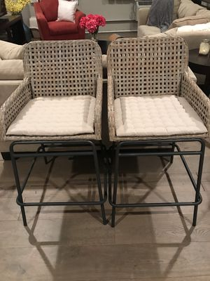 2 woven chairs. Indoor or outdoor. Originally $289 each. for Sale in Pittsburgh, PA