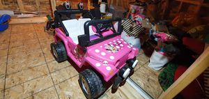 Fisher price pink mini mouse jeep for Sale in Chicago, IL