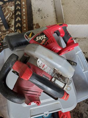 Skill 18v tools...reciprocating and circular saws for Sale in Saginaw, OR