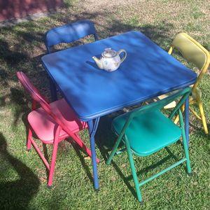 Kids Folding Table And Chairs for Sale in San Bernardino, CA