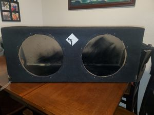 Used dual 12inch Rockford fosgate Sealed subwoofer box for Sale in The Bronx, NY