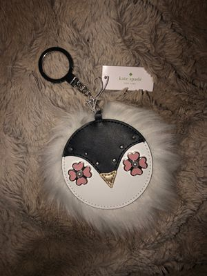 NWT! Kate Spade furry penguin keychain for Sale in Dearborn, MI