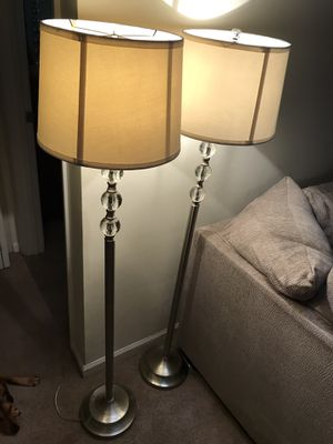 2 brushed nickel floor lamps for Sale in Richmond, VA