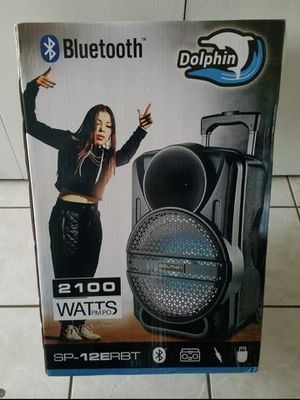 Dolphin 12 inch Portable Bluetooth FM Radio USB LED LIGHT PARTY SPEAKER NEW for Sale in Allen, TX