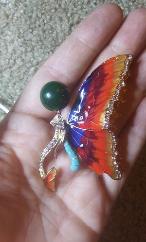 Huge enamel lady butterfly mermaid pin brooch for Sale in Tullahoma, TN