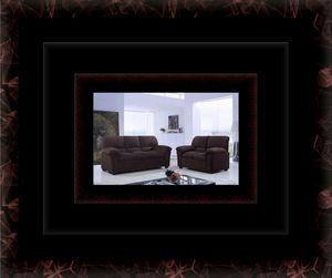 Chocolate microfiber sofa and love seat for Sale in Crofton, MD