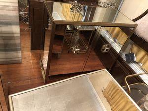 Mitchell Gold & Bob Williams Astor Mirrored Brass Bar for Sale in Salisbury, NC
