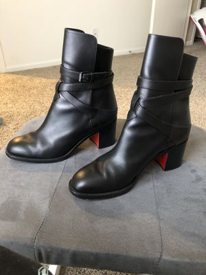Christian Louboutin Karistrap Leather Ankle Boot for Sale in Willowbrook, IL