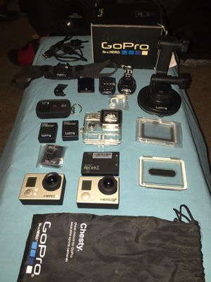 2x GoPro bundle Hero3 & hero3+ with extras for Sale in Norfolk, VA
