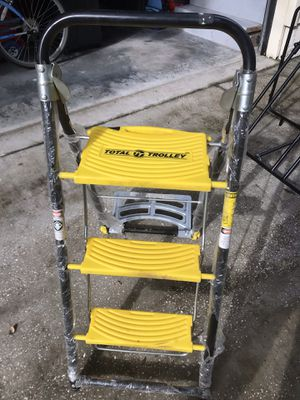 Dolly step ladder heavy duty for Sale in Tampa, FL