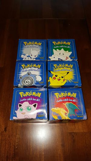 Pokemon limited edition 23 karat gold blue set from Burger King for Sale in FT LEONARD WD, MO