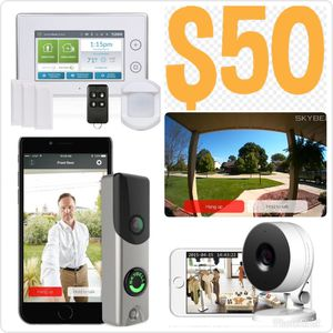 Touchscreen Keypad Alarm System with HD Doorbell Camera for Sale in Stone Mountain, GA