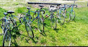 7 road bikes 5 Chicago Schwinn 29er 's tall mans 1 26 inch Clubman 1 panasonic.27 inch for Sale in Circleville, OH