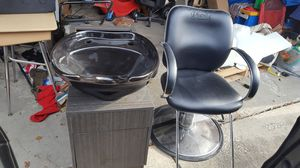 Salon sink/chair/cabinet. for Sale in IND HEAD PARK, IL