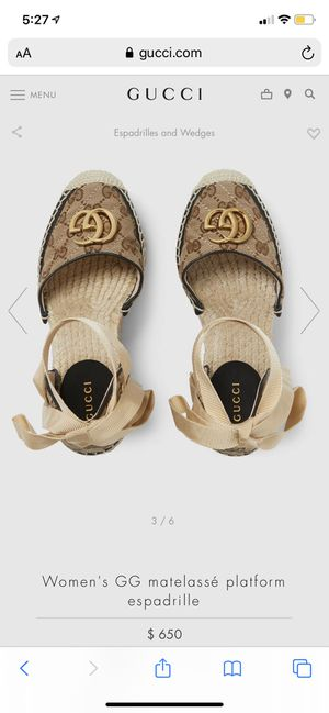 Gucci wedges for Sale in New York, NY
