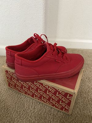 red vans for Sale in Elk Grove, CA
