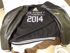 Addidas U.S.A. Army, Leather Jacket Like New Size Large for Sale in Los Angeles, CA