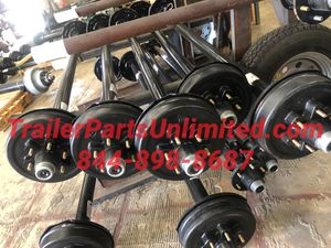 5200 lbs trailer axles - 6 lug electric drum brake trailer axle for Sale in Huntsville, TX