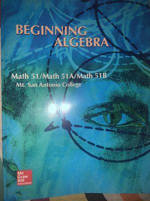 Beginning algebra Math 51 mtsac for Sale in Pomona, CA