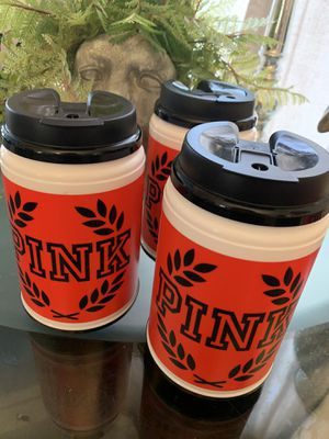 $6 each authentic pink thermos $15 for all for Sale in Chicago, IL