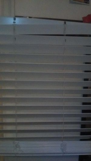 Thick blinds off white 22 -and a half of wide and 58 long for Sale in Fresno, CA