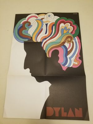 Bob Dylan 1966 Original Pop Art poster Milton Glaser Psychedelic Silhouette for Sale in Chevy Chase, MD