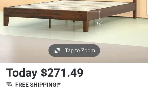 """12"""" wood platform bed"""