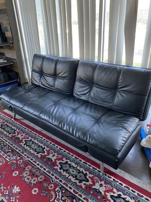 Leather Futon for Sale in Modesto, CA