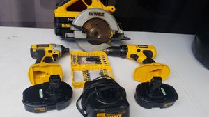 Dewalt hammer cordless drill and Table Saw and tool set for Sale in Pompano Beach, FL