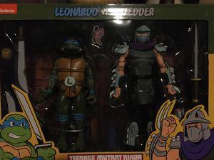 Neca TMNT Leonardo vs Shredder 2 pak pack Teenage Mutant Ninja Turtles action figures for Sale in Diamond Bar, CA