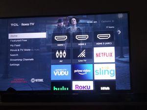 Tcl 50 inch roku tv 4k for Sale in Warren, MI